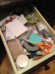 Why is an entire kitchen drawer taken up by all this crap?
